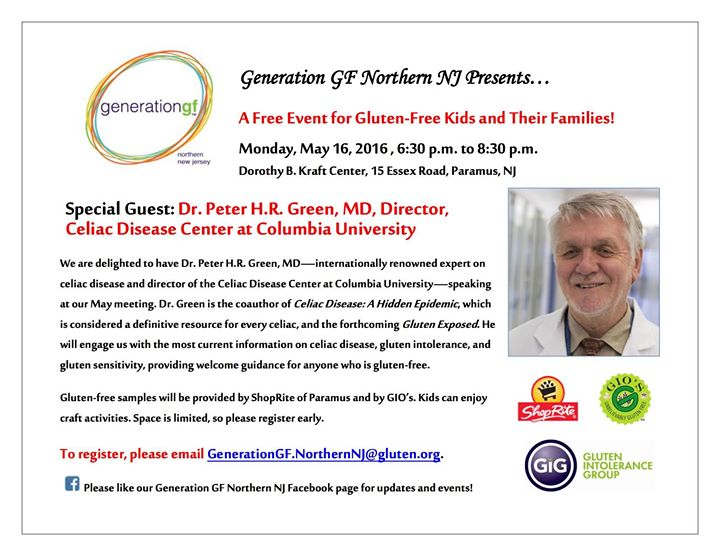 Special Guest Dr Peter Hr Green Md Director Columbia Celiac