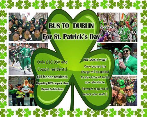 Bus To Dublin for St. Patricks