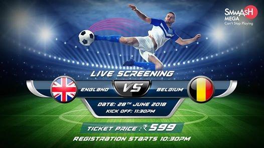 FIFA World Cup 2018 Live Screening England vs Belgium