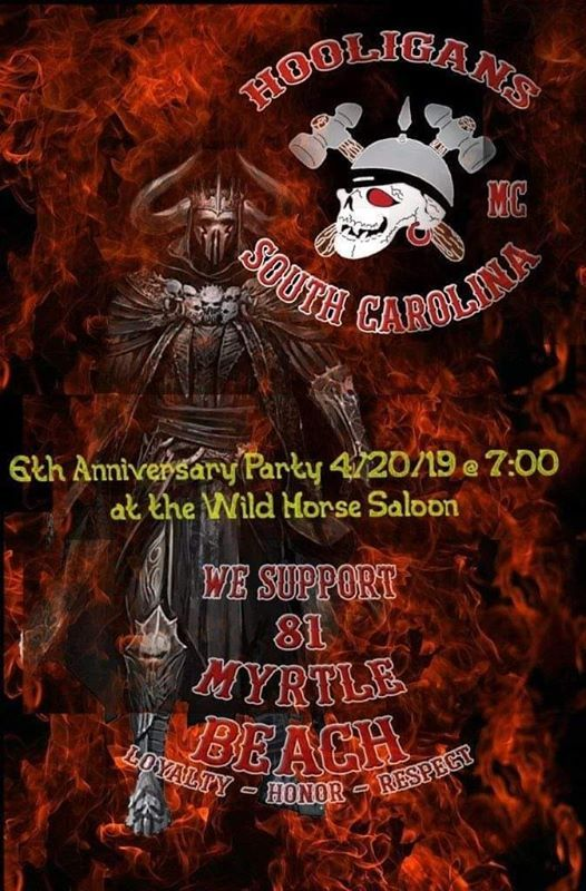 Hooligans MC Myrtle Beach 6th Anniversary Party! at The Wild