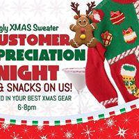 Customer Appreciation  Ugly Xmas Sweater Party