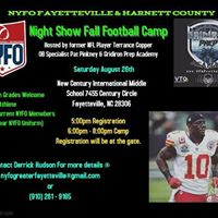 NIGHT SHOW YOUTH FOOTBALL CAMP 5TH - 12TH GRADE