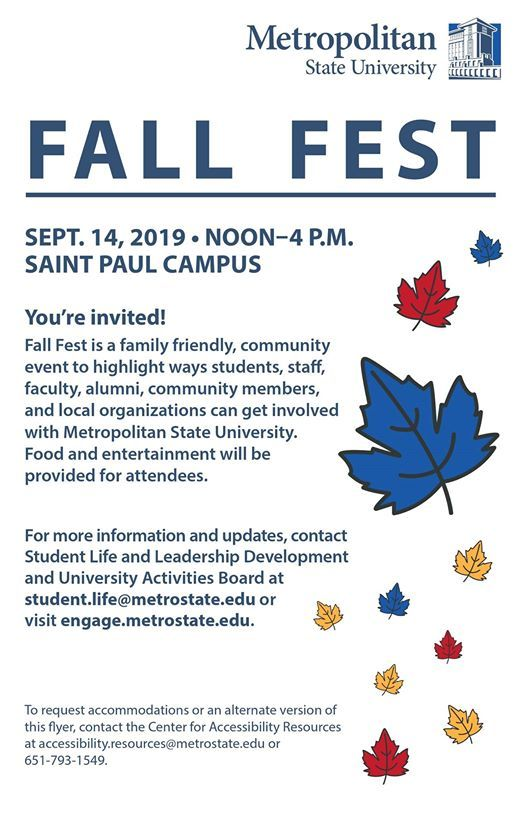 Fall Fest 2019 at Student Life and Leadership Development at