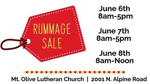Rummage Sale at Mt  Olive   Rockford