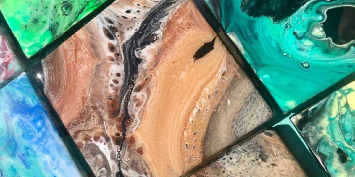 Acrylic Pour & Resin Coasters at Atlantic Beach Arts Market