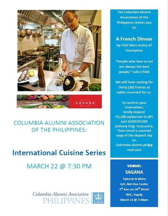 CAAPh French Dinner at Sagana Epicerie and Bistro, Taguig