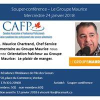 Souper confrence - Le Groupe Maurice