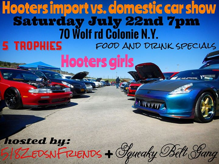 Hooters Import Vs Domestic Car Show At Hooters Of Albany Colonie - Import car shows near me