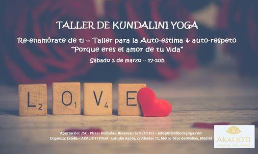 Taller de Kundalini Yoga - Re-enamrate de ti autoestima