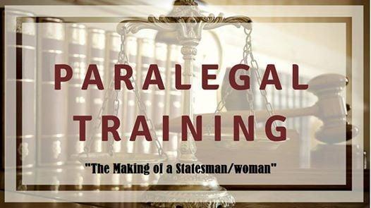 School of Statesmanship Paralegal Training Module 1 Training