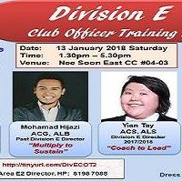 Division E Club Officer Training 2