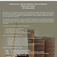 Conference on Dispute Resolution in Asia and Beyond Progress a