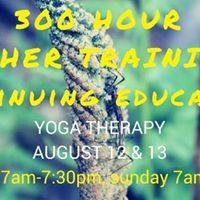 300 Hour Teacher Training - Yoga Therapy