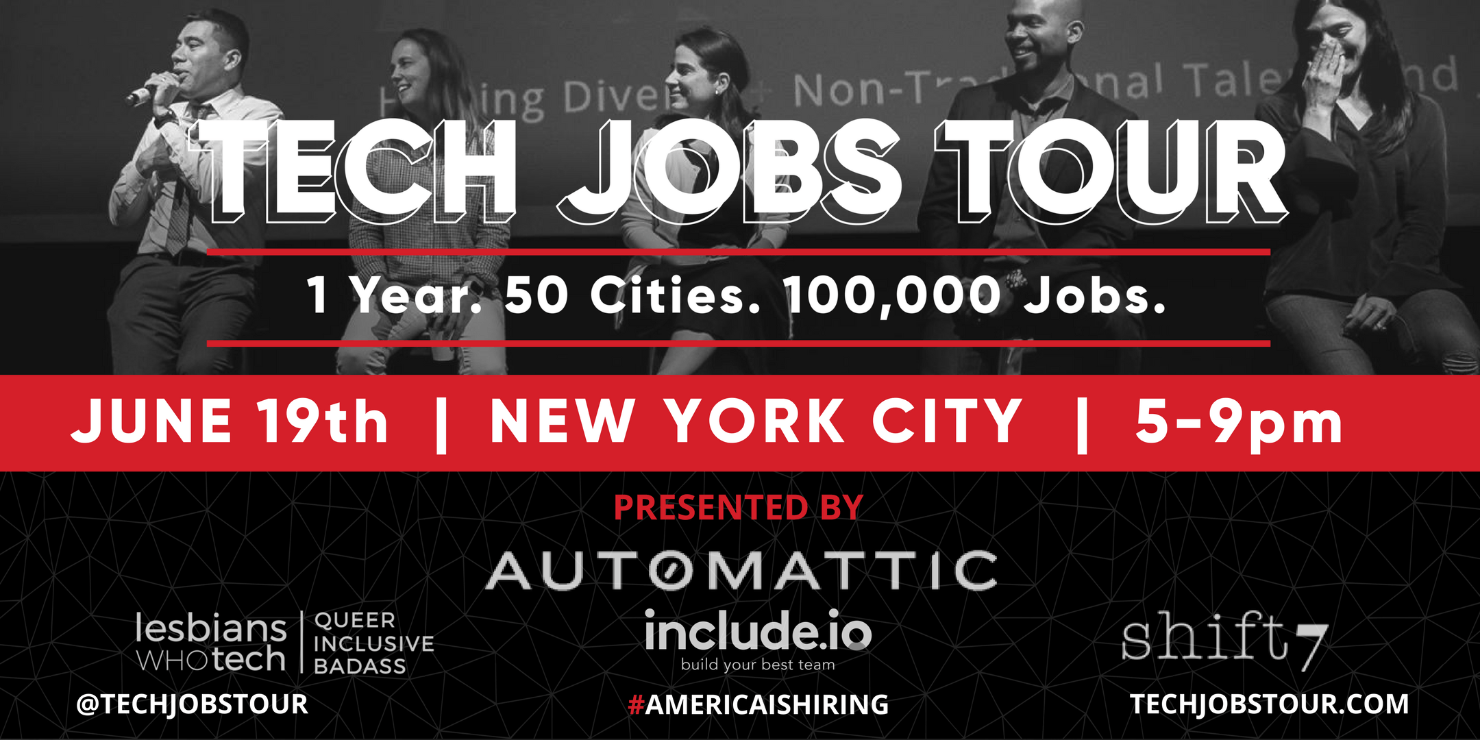 Tech Jobs Tour New York City  Career Fair &amp Speed Mentoring with Megan Smith 3rd CTO United States and CEO shift7  Tech Talks