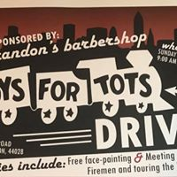 Brandons Barbershop Toys for Tots drive