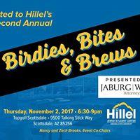 Birdies Bites &amp Brews Hillels Annual Fundraiser