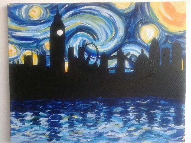 Paint Starry Night over London Shoreditch Friday 16 November