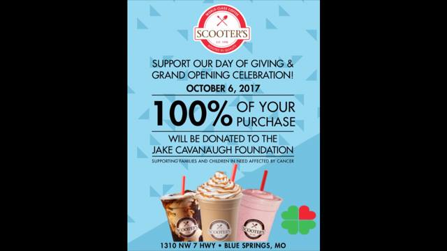 Scooters Coffee Gives to The Jake Cavanaugh Foundation