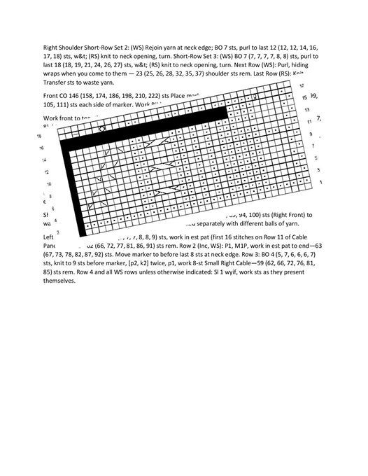 How To Read Knitting Patterns Charts At Untangled Purls Virginia