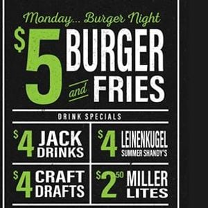 Monday Burger Night