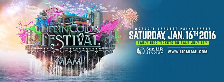 Life In Color Miami (Dayglow) 122713 - Worlds Largest Paint Party