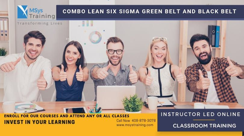 Combo Lean Six Sigma Green Belt and Black Belt Certification Training In Chandler AZ
