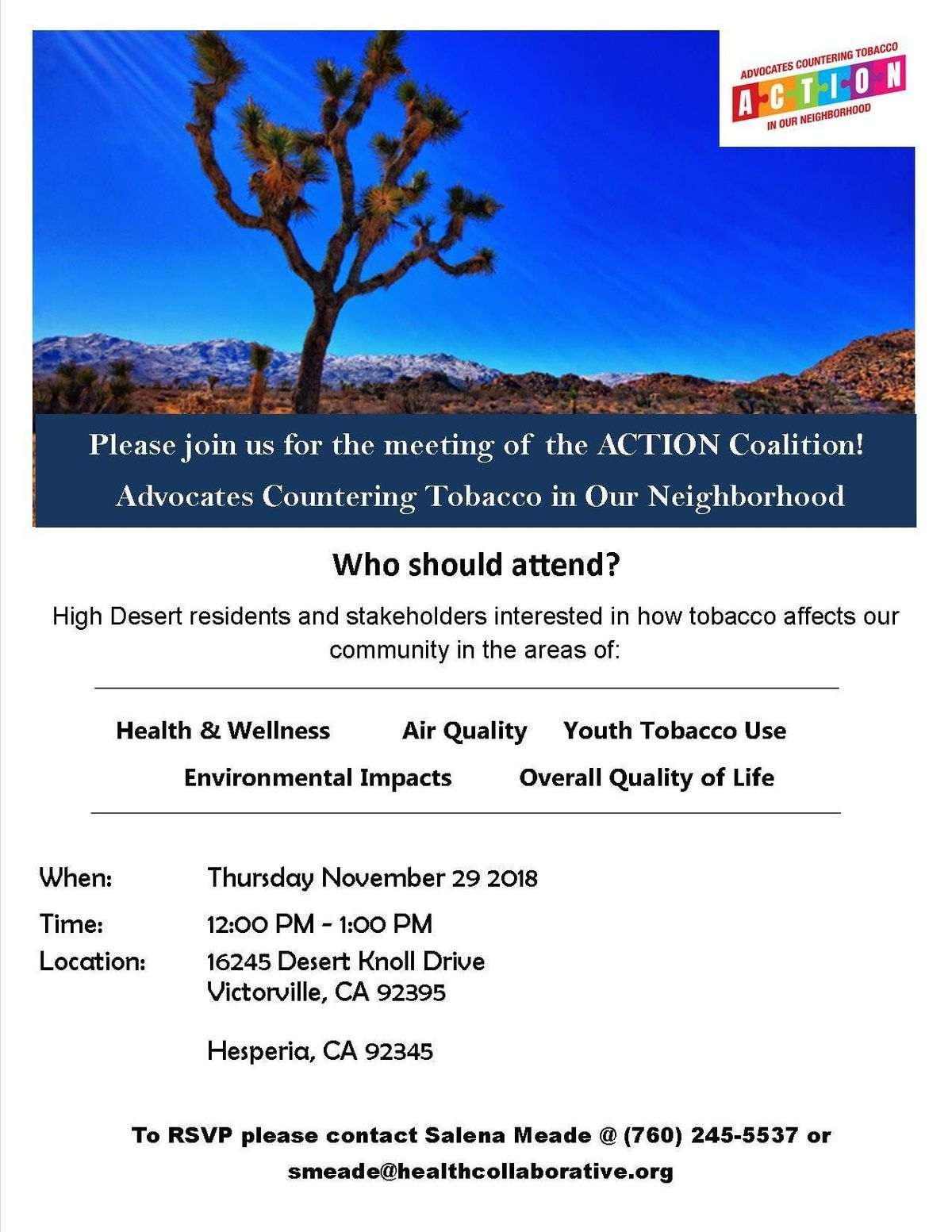 ACTION Adult Coalition Meeting