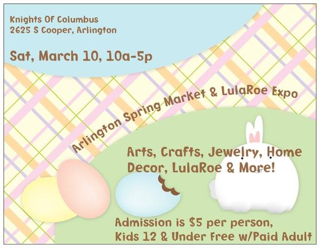 Arlington HodgePodge Market And LulaRoe Expo Sat March 10