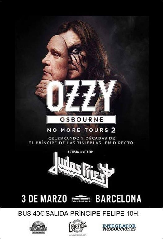 Viaje desde Zaragoza concierto Ozzy OsbourneJudas Priest