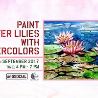 Paint the Water Lilies with Watercolors