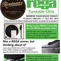Rega Turntable Clinic at Vinyl Renaissance Overland Park
