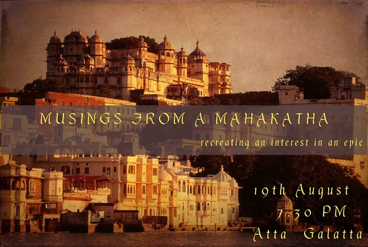 Musings from a Mahakatha  Storytelling evening for Adults