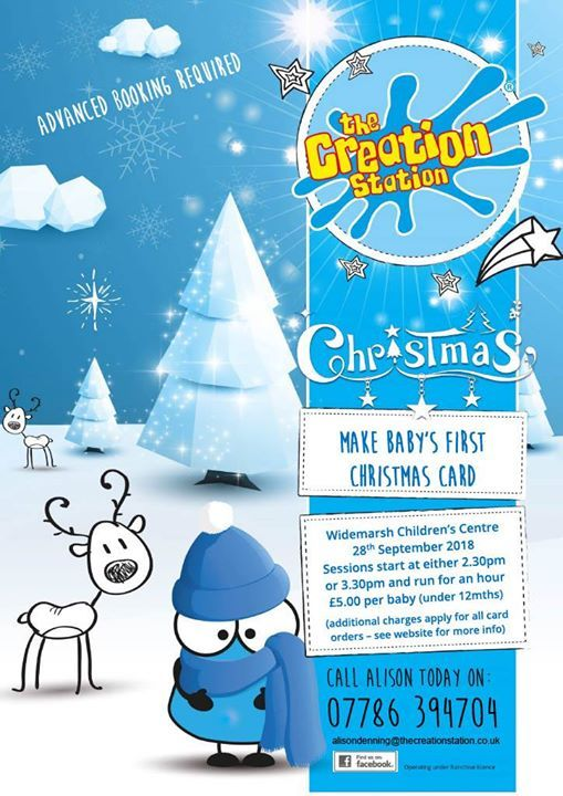 Sold Out Make Babys First Christmas Card At Widemarsh Children S