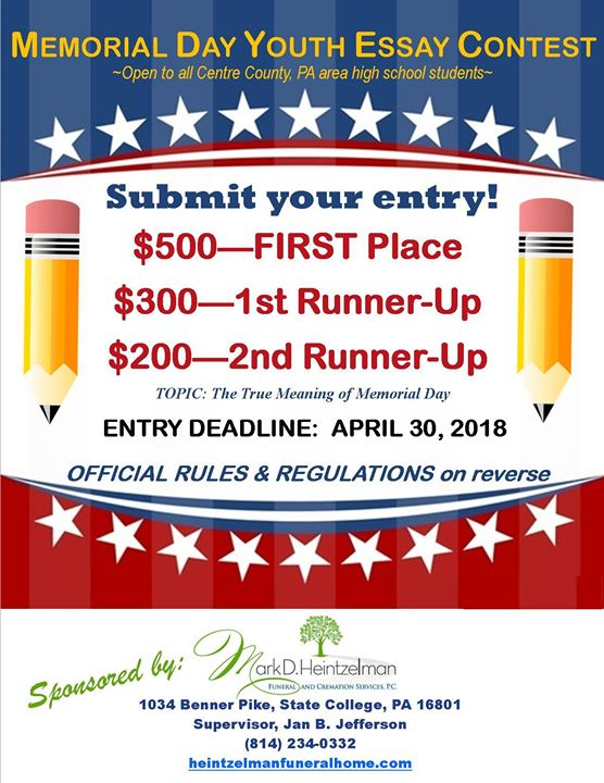 The True Meaning Of Memorial Day Youth Essay Contest 2018 At Mark D