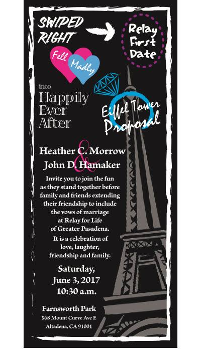 Relay Wedding (John Hamaker & Heather Morrow)