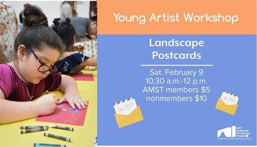 Young Artist Workshop Landscape Postcards