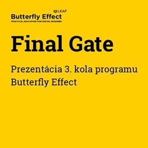 562e795f5f0b9 Final Gate - Prezentácia 3. kola programu Butterfly Effect at ...