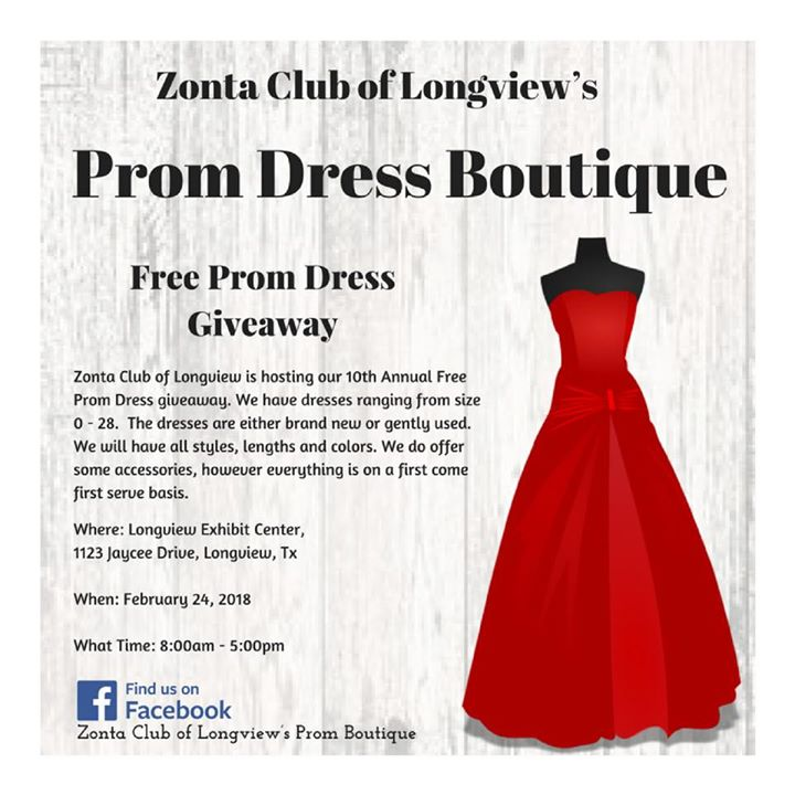 10th Annual Zonta Club of Longview Prom Boutique at Longview Exhibit ...