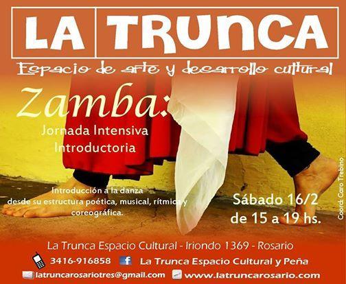 Zamba Jornada Intensiva Introductoria At La Trunca