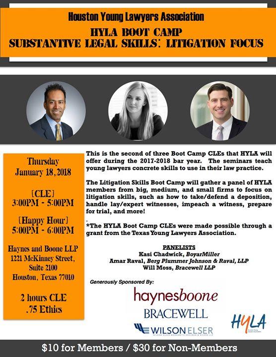 HYLA CLE: Substantive Legal Skills— Litigation Focus at