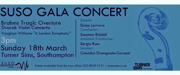 SUSO Gala Concert 2018 at Turner Sims, Southampton