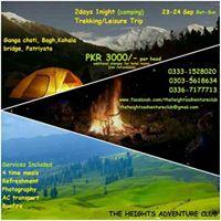 Ganga Choti Camping night