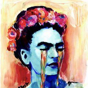 ArtNight Weinende Frida Kahlo am 26042019 in Augsburg