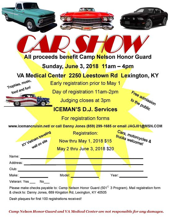 CAR SHOW Kentucky Vietnam Veterans Wall At Leestown Rd - Car show kentucky