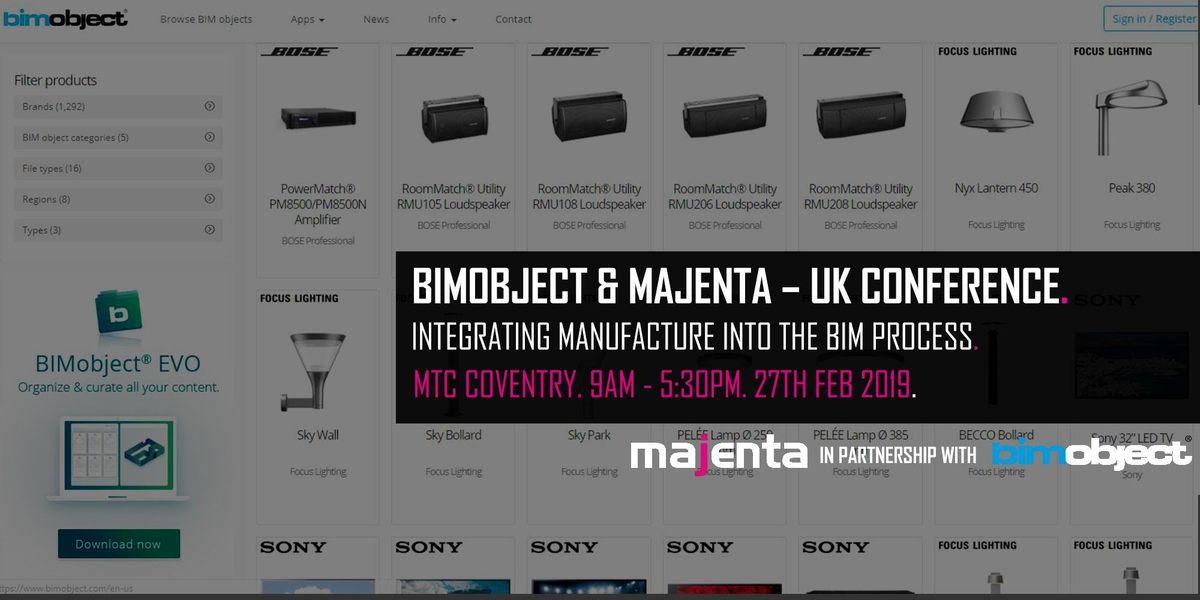 BIMObject & Majenta  UK Conference
