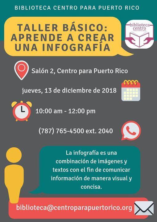Taller Gratuito Infografias At Centro Para Puerto Rico1012 Calle