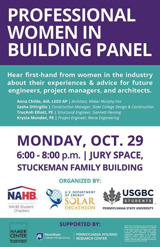 Professional Women In Building Panel At Penn State Stuckeman School