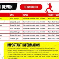 South Devon Easter holiday courses