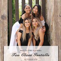 Delta Phi Gamma - Tau Class Formal Installations