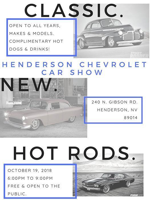Annual Henderson Chevrolet Car Show Nevada - Car show henderson nv